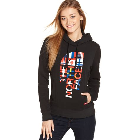 the international collection hoodie in black tnf black global lyst