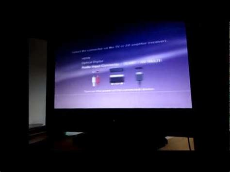 reset ps3 video settings black screen ps3 hdmi black screen problem youtube