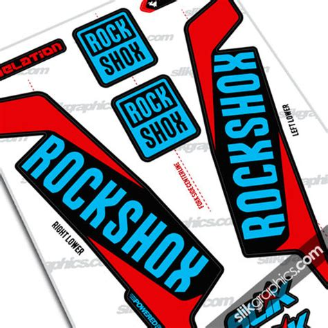 Rockshox Retro Stickers by Rockshox Pike 2013 Style Decals White Forks Slik Graphics