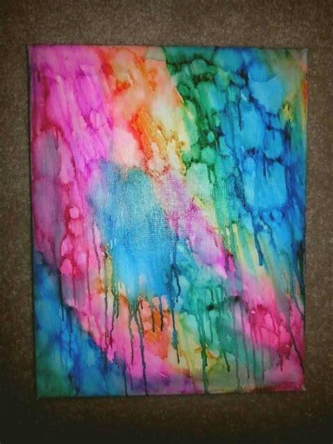 isopropyl alcohol  sharpies canvas art drip colour