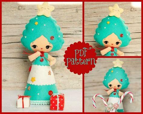 stuffed christmas tree sewing pattern stuffed by pdf christmas tree doll xmas ornament plush doll