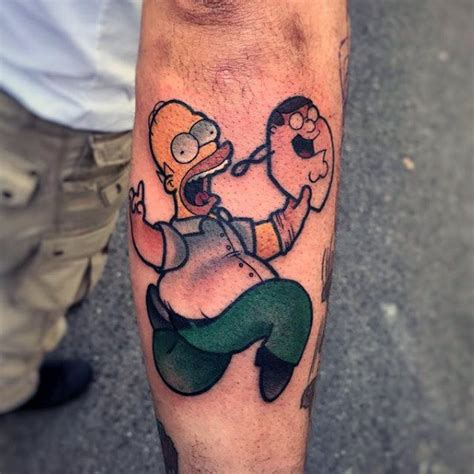 simpsons tattoo homer designs ideas and meaning tattoos