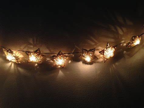 White Rattan Star String Lights For Patioweddingparty And Rattan String Lights