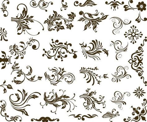 gothic pattern brush vector gothic embellishments free vector download 118
