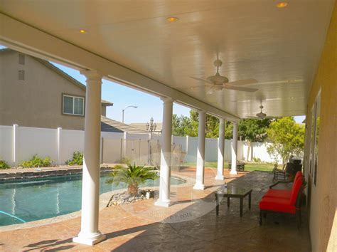 Low Maintenance Patio Covers In The Antelope Valley And Patio Cover Lighting Ideas