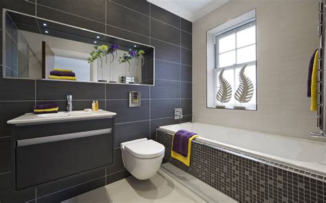 Black And White Bathroom Tiles Designs Black Tile Bathroom Ideas