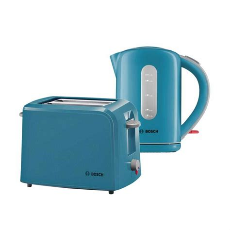 Bosch Village Collection Kettle & Toaster Bundle Pack ? Light Blue   Around The Clock Offers