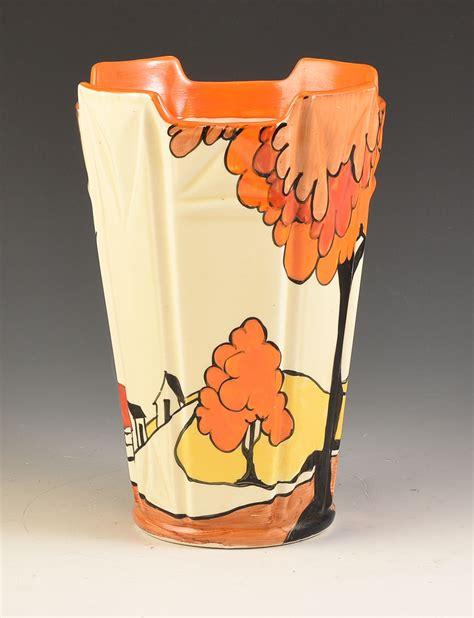 Clarice Cliff Vase Shapes by Clarice Cliff House Bridge 451 Shape Vase C 1932
