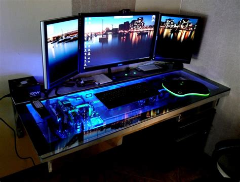 Computer Desk For Gaming Gaming Computers On Pinterest Gaming Computer Computers And Computer Setup