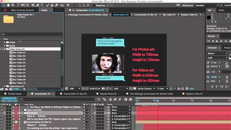 templates after effects tutorial text messaging after effects template customization