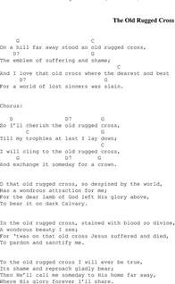 Song The Rugged Cross Lyrics And Chords by The Rugged Cross Christian Gospel Song Lyrics And Chords