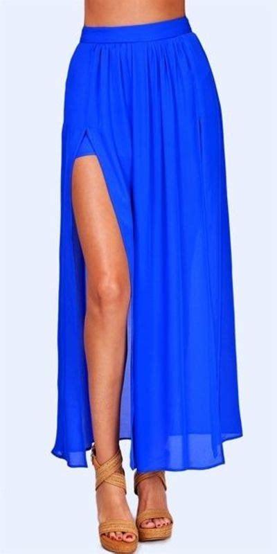 pleated slit maxi skirt inspiring