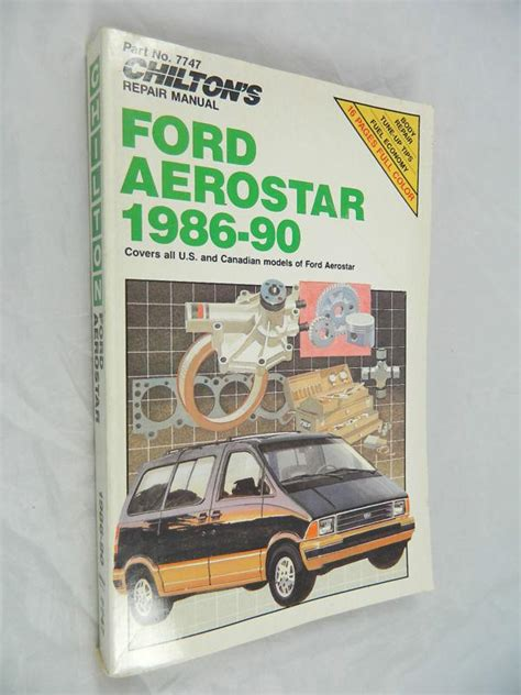car owners manuals free downloads 1986 ford aerostar on board diagnostic system purchase ford aerostar minivan van 1986 87 88 89 90 service repair shop manual 7747 motorcycle