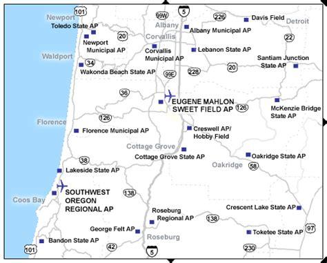 map of oregon airports west oregon airports tripcheck oregon traveler information