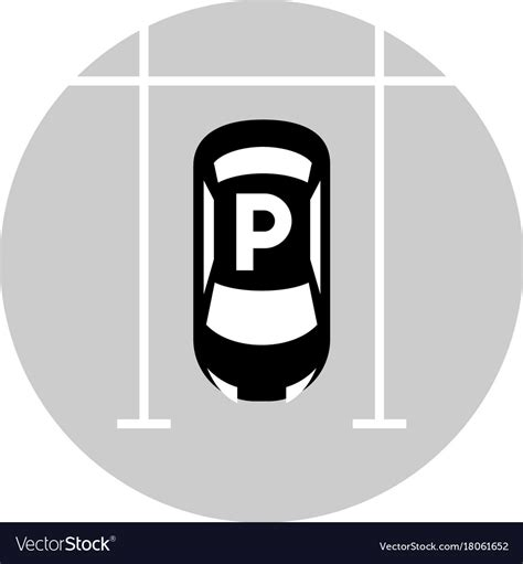 Parking Lot Car car parking lot icon royalty free vector image