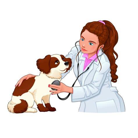 imagenes de medicas veterinarias veterinaria con un perro descargar vectores gratis