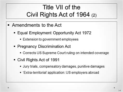 section 1981 civil rights act chapter 3 title vii of the civil rights act of ppt download