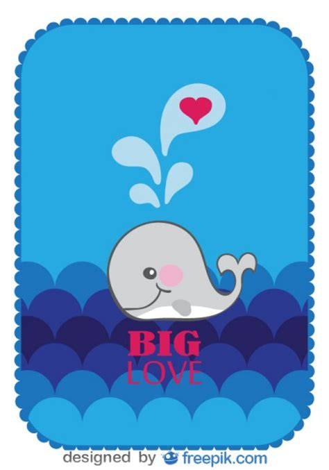 ballenas animadas vector cartoon whale inlove vector free download