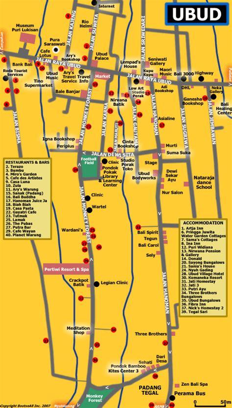map  ubud bali blog