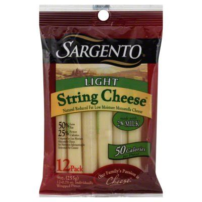 Nutrition Facts Sargento String Cheese Part Skim Sargento Light String Cheese
