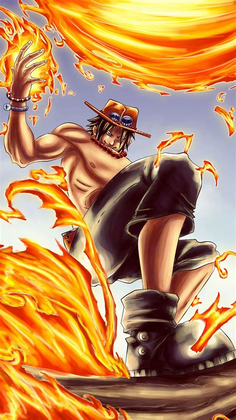 wallpaper iphone one piece hd portgas d ace one piece iphone 6s wallpapers hd