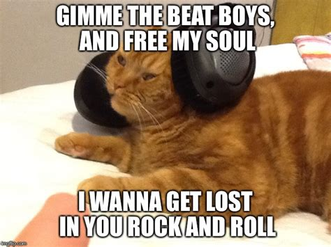 Memes Rock N Roll - image tagged in funny cats beatbox imgflip