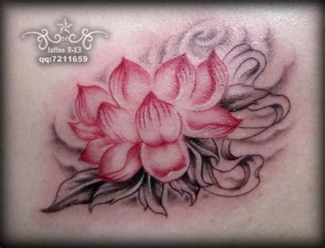 lotus tattoo grey wash with pink tattoos pinterest