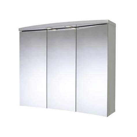 White Mdf Cabinet Doors Croydex Seine 3 Door Illuminated Mirror Cabinet White Mdf Wc145622e At Plumbing Uk