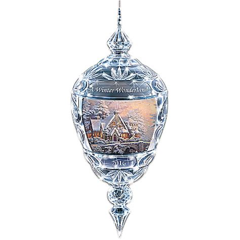 thomas kinkade shimmering elegance ornament 2015 edition