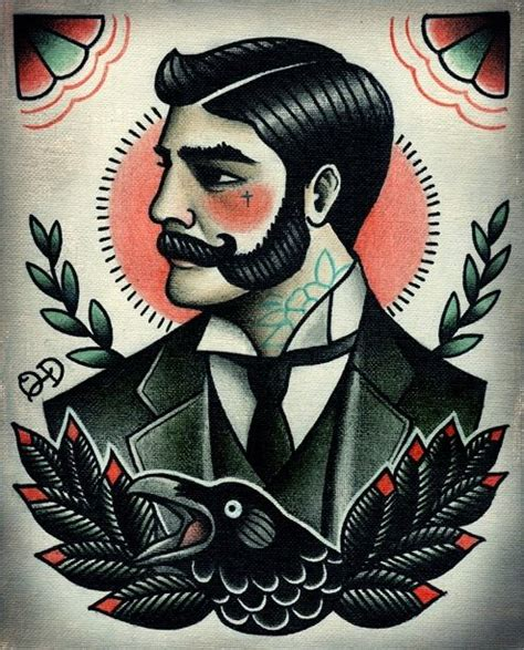 tattoo flash art for men gentleman flash traditional
