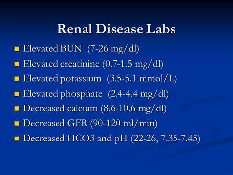 creatinine 0 7 mg dl basic human needs urinary elimination ppt