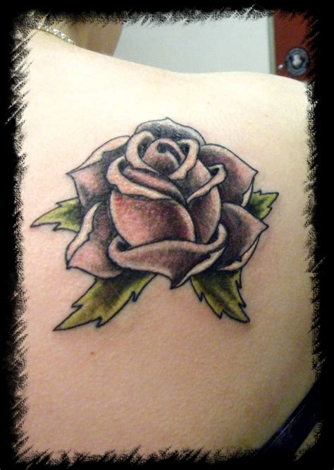 tattoo rose old school school pink picture