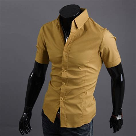 best dress shirts mens luxury shirt top slim fit stylish casual sleeve casual dress shirts ebay