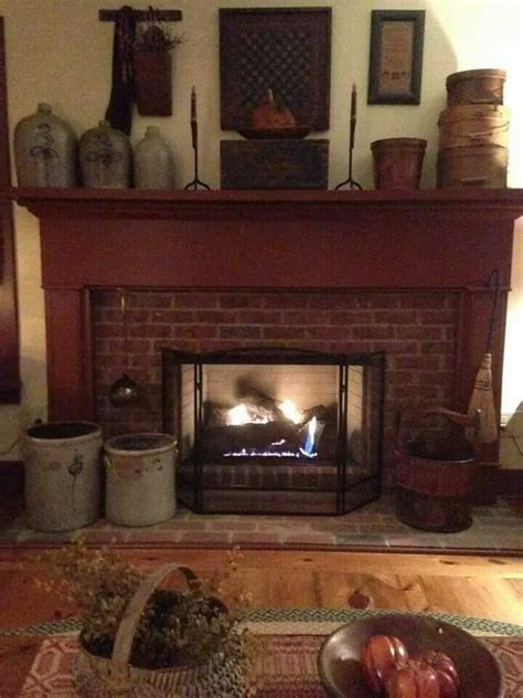 primitive fireplace decor 1786 best images about primitive homes decor on