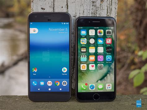 pixel vs apple iphone 7