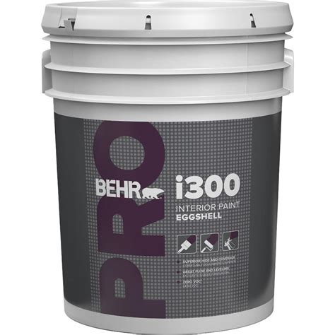 home depot 5 gallon interior paint behr pro 5 gal i300 white eggshell interior paint pr33005