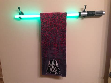 wars bathroom accessories wars bathroom makeover with a diy light saber towel