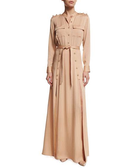Dress Spandek Rayon By Chomel Shop self portrait sleeve crepe maxi dress camel