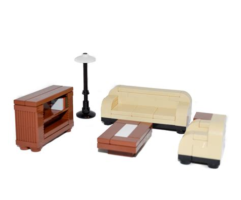 bookshelf table and chairs lego furniture formal seating set w sofa chair