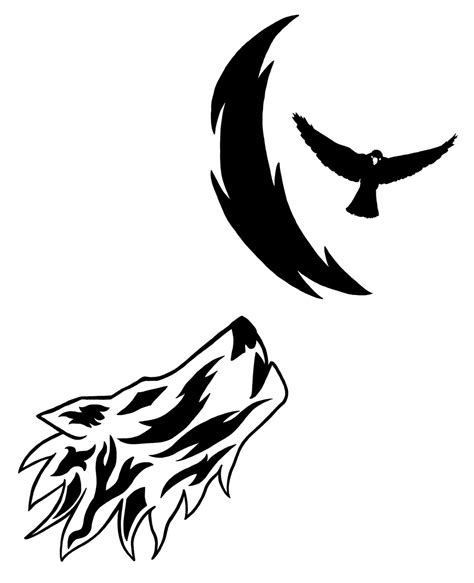 tribal crow tattoo tribal designs