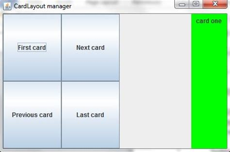 Card Layout Manager In Java | layout managers in java part 2