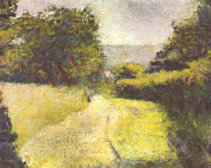 georges seurat most paintings le chemin creux painting by georges seurat oil painting