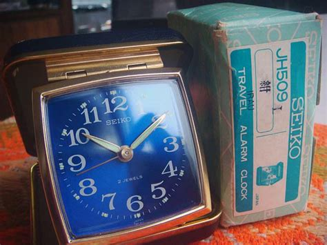 Alarm Kanebo travel alarm clock 紺 1970年代 旅行時計 一般腕時計 男女兼用 garitto