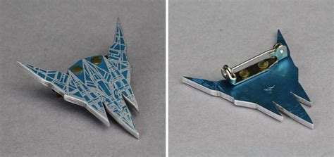 Arwing Papercraft - arwing pin by wmvmetalsmithing on deviantart