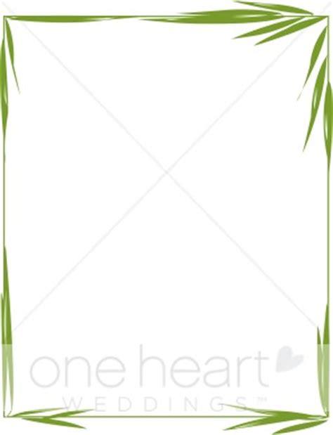 bamboo border clipart wedding borders