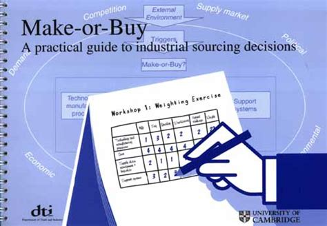 in or out a practical guide to decision books make or buy a practical guide to industrial sourcing