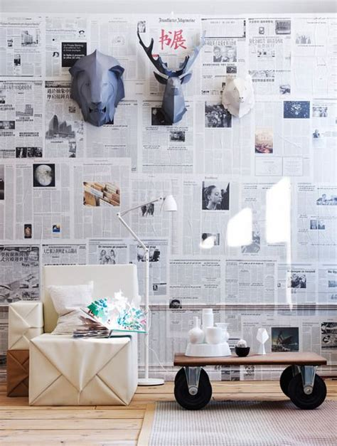 How To Make Paper Mache Wall - best 25 newspaper wall ideas on diy wall
