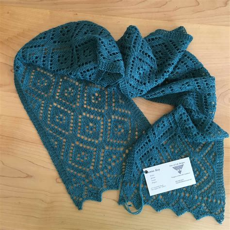 diamond pattern scarf knitting loftyfiber lace diamonds knitted scarf kit