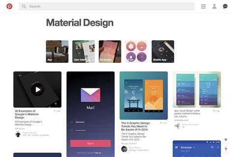 material design blog layout 13 sources of material design inspiration elegant themes