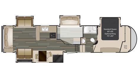 heartland rv floor plans 2018 heartland gateway 3712rdmb floor plan 5th wheel